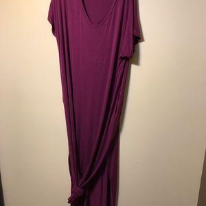 NWOT Reborn J maxi plum dress